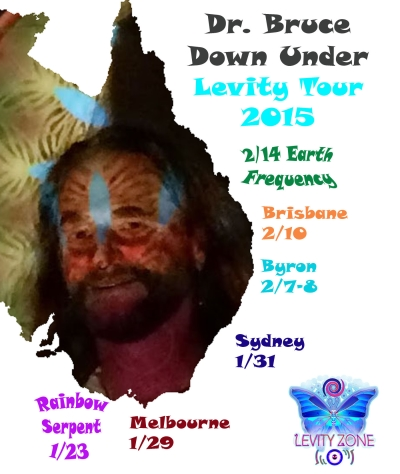 Dr. Bruce Damer's Down Under Levity Tour 2015