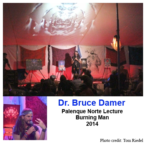 Dr. Bruce Damer delivering his 2014 Palenque Norte Lecture