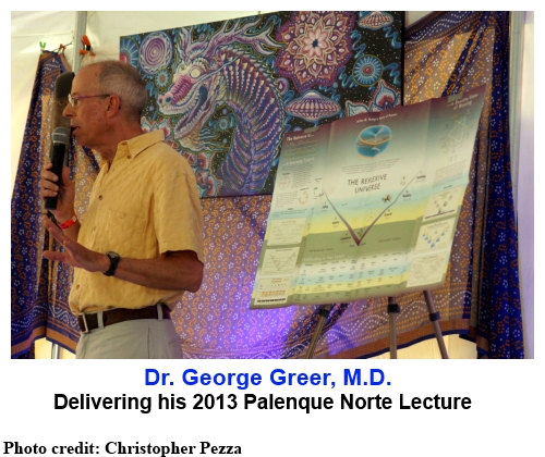 Dr. George Greer, M.D. delivering his 2013 Palenque Norte lecture