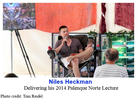 Niles Heckman delivering his 2014 Palenque Norte Lecture