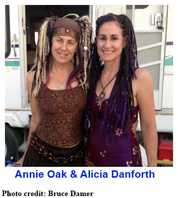 Annie Oak and Alicia Danforth at the 2013 Burning Man Festival