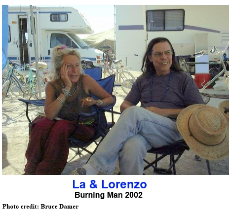 La Laurien and Lorenzo at Burning Man 2002