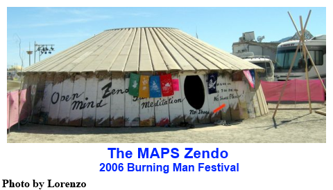 The MAPS Zendo at the 2006 Burning Man Festival